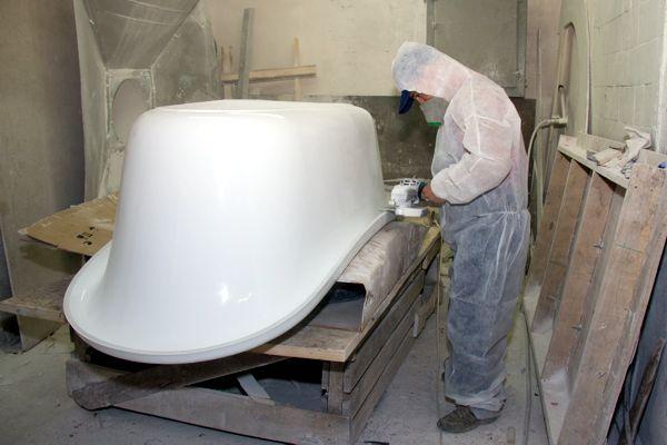 Производство сантехника из литьевого мрамора сантехника gacob delafon