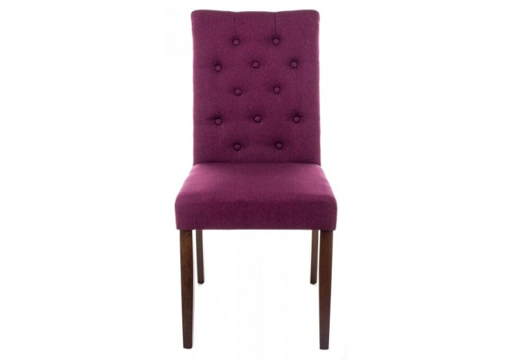 Стул деревянный Amelia dark walnut / fabric purple